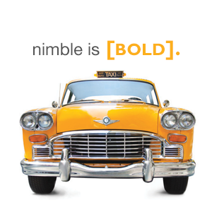 nimble is bold